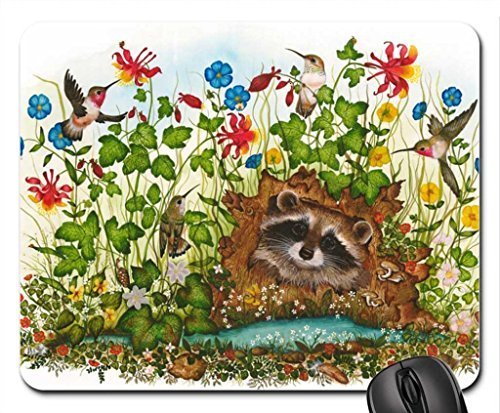hummers-and-a-coon-mouse-pad-mousepad-birds-mouse-pad