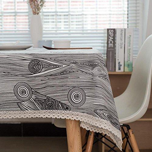 Tischdecke Holzkorn Leinen Imitation Rinde Home Dekoration Tischdecke , A , 120*120cm