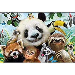 Fairylove 30x40 DIY 5D Diamond Painting Kits Animal World for Adult Kids Square Diamond Full Drill Kits Painting by Numbers Cross Stitch Crystal Rhinestone Embroidery Kits Home Wall Art Craft Decoration
