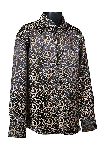 Sunrise Outlet Men's Fancy Dress Shirt Taupe