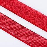 5m Klettband Haken+Flausch , hochwertig zum Aufnähen 25mm ro