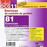 Image de Carrés DCG 11 - Exercices corrigés Contrôle de gestion 2015-2016, 2ème Ed.
