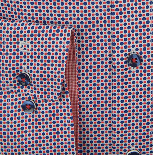 Olymp Hemd Luxor Modern Fit rot gemustert Rot