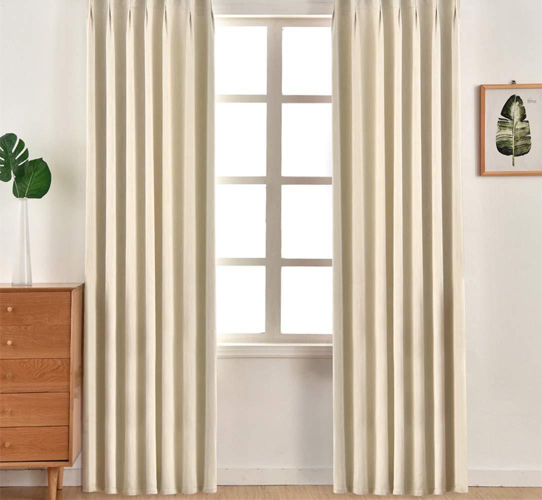 NAPEARL - Set di 2 Tende Moderne con Occhielli per Finestra e Soggiorno,  Crema, 46\