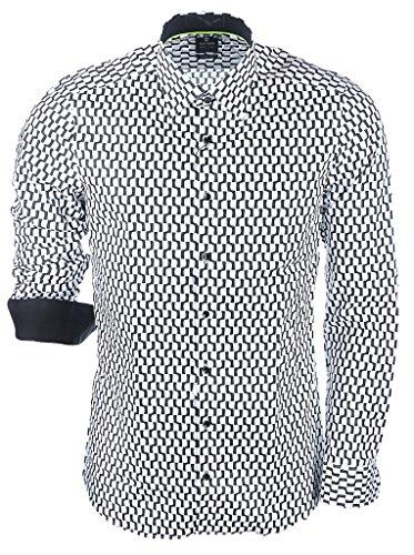 OLYMP LEVEL FIVE BODY FIT NEW YORK KENT 2104/74/68 schwarz-weiß Schwarz/Weiß