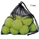 Cozywind Tennisbälle, Tennisball für alle Beläge Attraktive Hundespielzeuge (12 Stk)