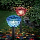 EASYmaxx 04298 Solar-Partyleuchte mit Farbwechsel | 2er-Set | Wasserdicht, für Wegrand, Teich, Pool