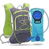 Sac Hydratation avec Poche d'eau (2L Reservoir) Sac à Dos de Course à Pied Léger 6L pour Femme Homme, Sac Trail Running pour
