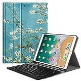 Fintie iPad Pro 10.5 Tastatur Hülle Keyboard Case mit eingebautem Apple Pencil Halter - Ultradünn leicht SlimShell Ständer Schutzhülle Tasche mit magnetisch abnehmbarer drahtloser deutscher Bluetooth Tastatur für Apple iPad Pro 10,5