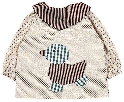 SUNNY JU - Babero Bebé Manga Larga Infantil Delantal Algodón Dibujo Pato 18-24 Meses XL - Amarillo