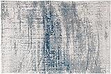 Louis de Poortere Teppich Designer-Herren Griff 8421Bronx Azurite, Blau und Grau Farben-Modern, modern, Teppiche, Multi, 60X90cm - (2'x3')