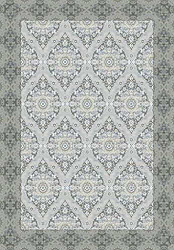 Vilber New Classic Damasco Alfombra, Vinilo, Gris, 153x200x0.2 cm
