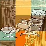 Alu Dibond 50 x 50 cm: Lounge Chair von Thomas Marutschke