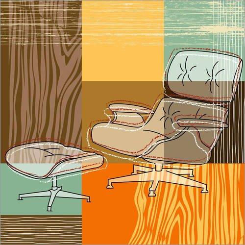 Forex-Platte 120 x 120 cm: Lounge Chair von Thomas Marutschke
