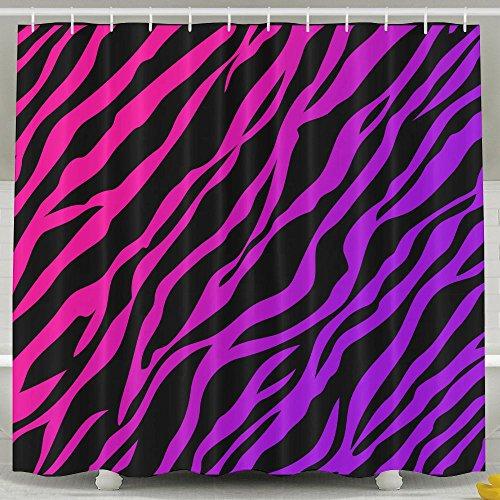 Pengyong Colorful Zebra Print schimmelresistente Stoff Vorhang für die Dusche für Badezimmer, Wasser, Standard-Repellant 152,4x 182,9cm (Dusche Vorhang-set Zebra-print)