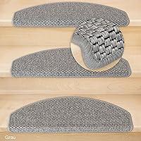 Kettelservice Metzker® Stufenmatten Göteborg Halbrund   4 Farben 15 Stück  (Grau) Incl