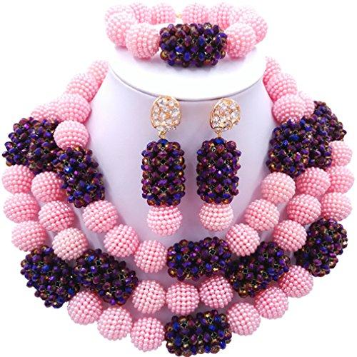 laanc-womens-3-rows-crystal-simulated-peals-nigerian-beads-african-bride-jewellery-set-wedding-jewel