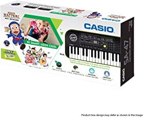 Casio SA47 Mini Portable Keyboard With Free Ninja Hattori Stationery Box
