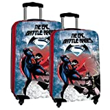Set 2/Trolleys Abs 55/67cm.4r.Superman & Batman