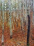 1art1 116957 Gustav Klimt - Birkenwald, 1903 Poster Leinwandbild Auf Keilrahmen 40 x 30 cm