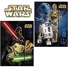 Juego de 2Star Wars–Camisa con elástico formato A4–diseño & # x202F;: Yoda, Darth Vader, C-3PO, R2D2–Camisa, respaldo, escuela