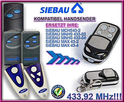 Preisvergleich Produktbild SIEBAU MCHS43-2 / MNHS433-02 / MNHS433-04 / MAX 43-2 / MAX 43-4 Kompatibel Handsender,  433.92Mhz rolling code keyfob