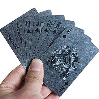 Asdomo 54 St./Deck, wasserfest, Kunststoff, 3D-Prägung. Poker-Karten, PET, Spielkarten, für Zaubertricks, Rückseite mit Rasterdruck, A2