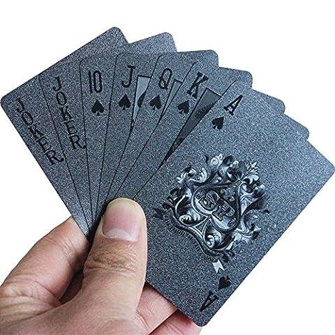 Asdomo 54pcs/du pont Plastique étanche 3d gaufrage Cartes de poker pour animal domestique Materia Outil de jeu de cartes tours de magie, grille Imprimé Dos, A1