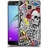Head Case Designs Punks Pas Mort Autocollant Heureux - Nouveau Étui Coque D'Arrière Rigide Pour Samsung Galaxy A3 (2016)