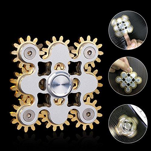 Gr4tec Tri Fidget Hand Spinner Metal Toy. Juguete de mano provisto de 9 engranajes. Totalmente desmontable. Lleno de sentido mecánico. Ideal para entrenar la atención, aliviar el estrés y matar el tiempo.