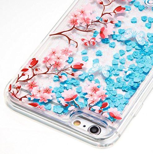 iPhone 6 Plus / 6S Plus Hülle,SKYXD Glitzer Flüssig Wasser Kreativ Design Weiche Silikon Gel Gummi [Nicht Hard Case] Brillianter Leichtes Glatt Schutzhülle mit [Handyanhänger + Eingabestifte] Handy Ta Color-11