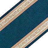 casa pura Stilvoller Teppichläufer mit brillianten Farben | Hochwertige Meterware, gekettelt | Kurzflor Teppich Läufer | Küchenläufer, Flurläufer (80x300 cm)