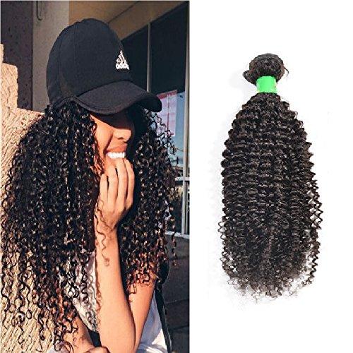 Wendy Hair - Extensiones de pelo brasileño sin procesar, 100 g, rizadas, 1 extensiones de pelo natural de balcón humano rizado de 25,4 cm, paquete virgen para mujeres