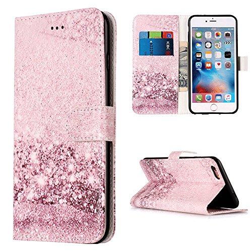"""MOONCASE iPhone 6/iPhone 6s Hülle, [Colorful Pattern] Stoßfest Ganzkörper Schutzhülle mit Ständer Leder Handytasche Case für iPhone 6/iPhone 6s 4.7"""" Orchid Rose Gold"""