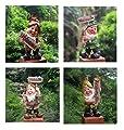 Design Zwerg NF 16107 Welcome Willkommen 36 - 37 cm Hoch Deko Garten Gartenzwerg Figuren Dekoration verschiedene Design von GMMH - Du und dein Garten