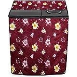 Stylista Washing Machine Cover Compatible for LG 8 Kg 5 Star Semi-Automatic Top Loading Washing Machine P8035SRMZ Floral Patt