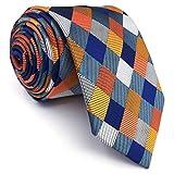 Shlax&Wing La Mode Unique Homme Soie cravate Multicolore à carreaux Extra long