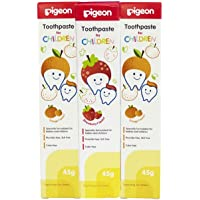 Pigeon Children Tripack Toothpaste Orange (45g, Pack of 2) & Strawberry (45g, Pack of 1)