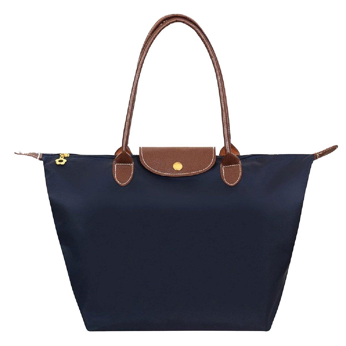 9df54a0efee ZhengYue Women s Stylish Waterproof Zipper Tote Bag Handbag Nylon Travel  Shoulder Beach Messenger Bags Ladies Shopping Fold Bag Casual Bags Fold Bag  – ...