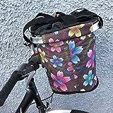 Quick Release Fahrrad faltbar Korb Einkaufstasche Blumen Jahreszeiten