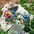 Pötschke Ambiente Gartenstecker Schmetterlinge auf Silberkugeln von Pötschke Ambiente auf Du und dein Garten