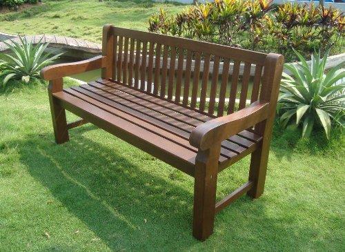 TPFGarden Gartenbank Holzbank BRISTAL 162cm 3-Sitzer aus Eukalyptus Massiv