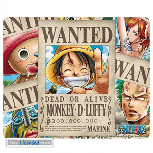 One Piece - Wanted Pirati Tappetino Per Mouse (24 x 19cm)