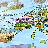 Travel Map/Bucketlist Weltkarte - Wiederbeschreibbar - Ausführung: Deutsch