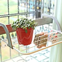 V3HOUSE Door Cloth Hanger | Foldable Drying Rack | Adjustable Indoor/Outdoor Easy Folding Clothes Drying Racks Stand…