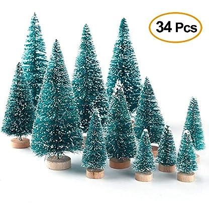 GoodFaith-Mini-Weihnachtsbume-knstliche-Sisal-Schnee-Frost-Bume-fr-Weihnachten-Basteln-Tischdekoration