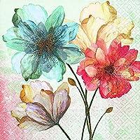 Servilletas (2 Juegos / 40 uds) 3 capas 33x33 cm Muestra Verano Cuadro Flores (Portrait of Flowers)