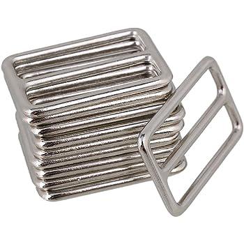 BQLZR 3.8cm argent alliage de zinc lourds soudés Tri-glisse boucles pour  sac à a65e70952ed