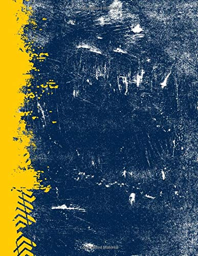 Blue And Maize: (8.5 x 11 Lined) Blank Grunge School Color Notebook College Ruled por Belle Journals