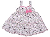 MomToBe Baby Girl's Frock Pink Bow Print...